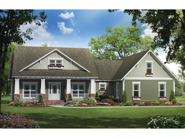 Simmons Arts Crafts Home Plan House Plans