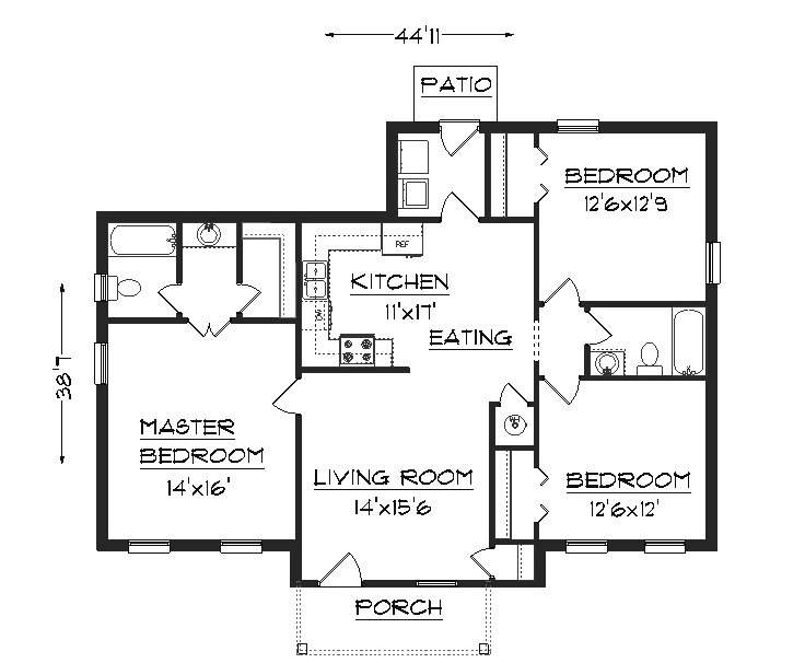 Simple Floor Plans Ranch House Home