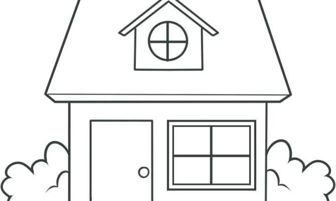 Simple House Drawing Draw Kids