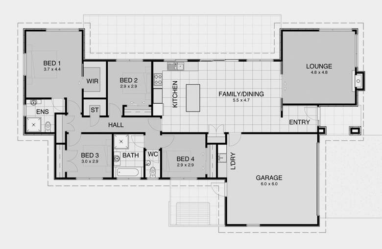 Simple House Open Floor Plan Rambler Monarch Plans Home