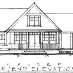 Simple House Sketch Post Beam Cottage