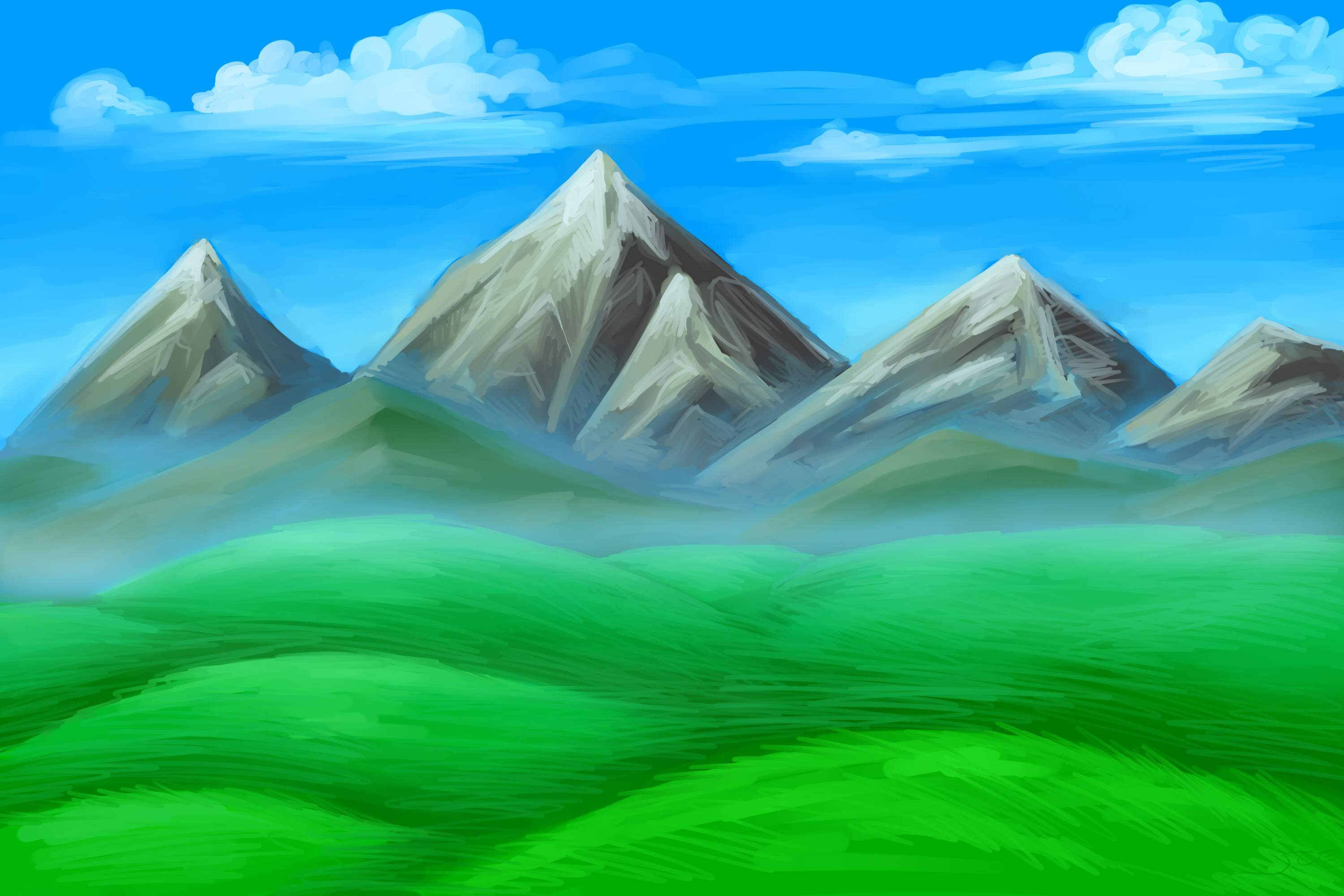 Simple Mountain Drawings Mountains Drawing