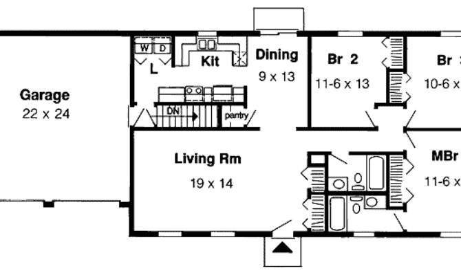 Simple One Story Architectural Designs House Plans