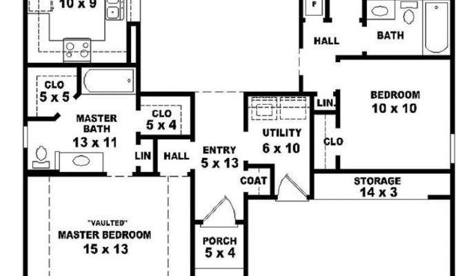 Simple One Story House Floor Plan First