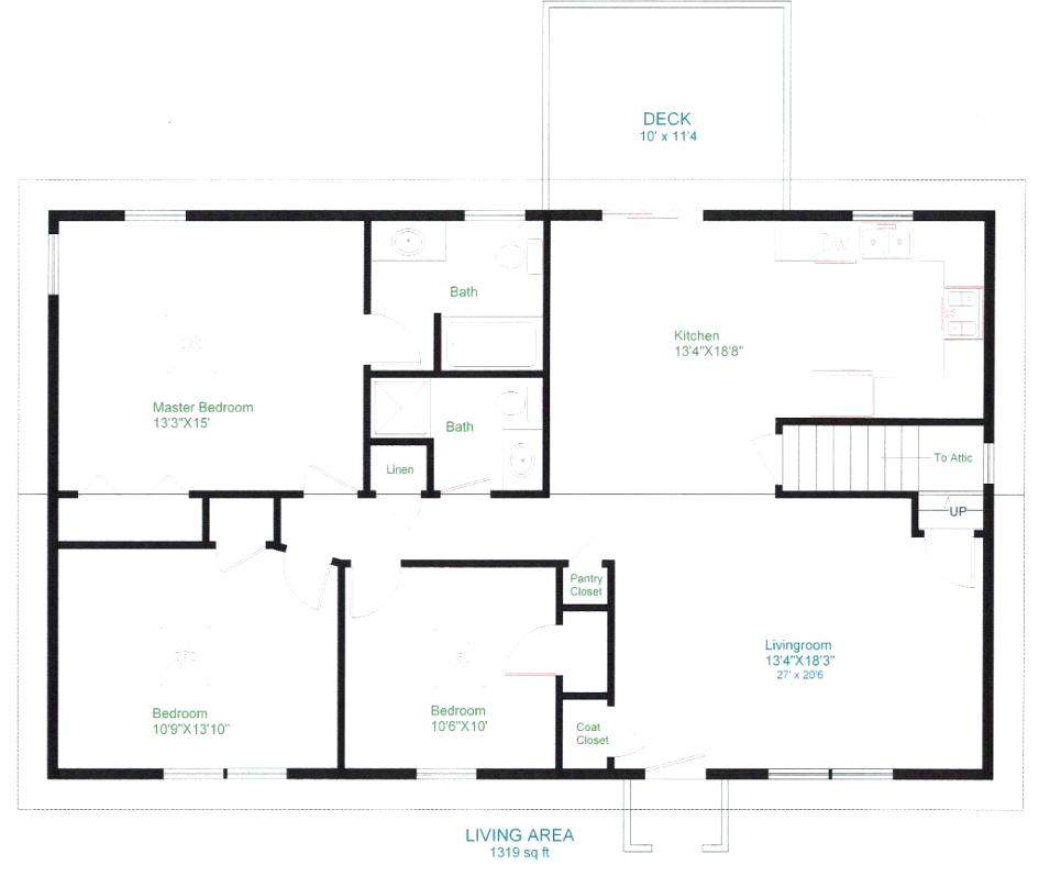Simple Open Floor House Plans Sun Valley Homes Basic