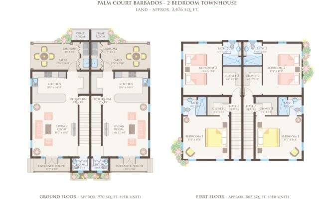 Simple Story Townhouse Plans Placement Home