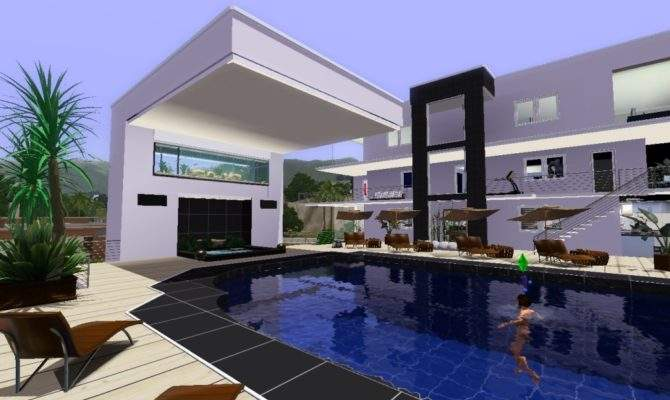 Sims Cool Houses Updates Cstyles Cali Celebrity Dream