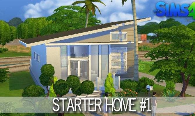 Sims House Building Starter Home Speed Build