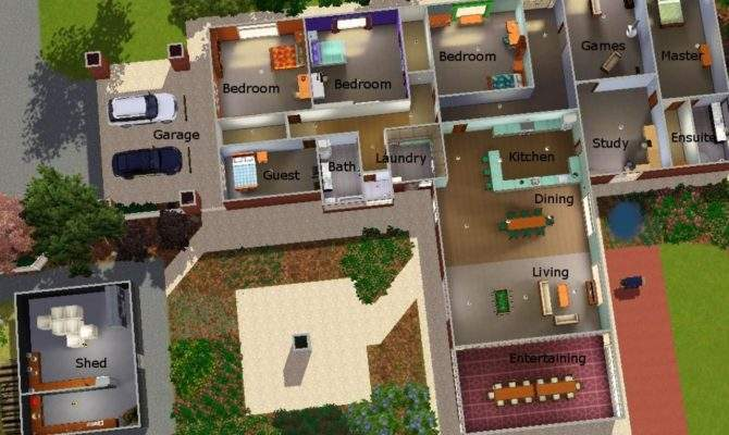Sims House Plans Modern Cool Layouts Home