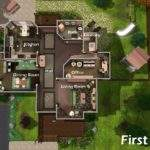 Sims House Plans Modern Floor Plan