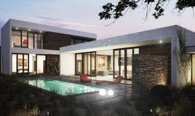 Single Story House Plans Double Modern Bed