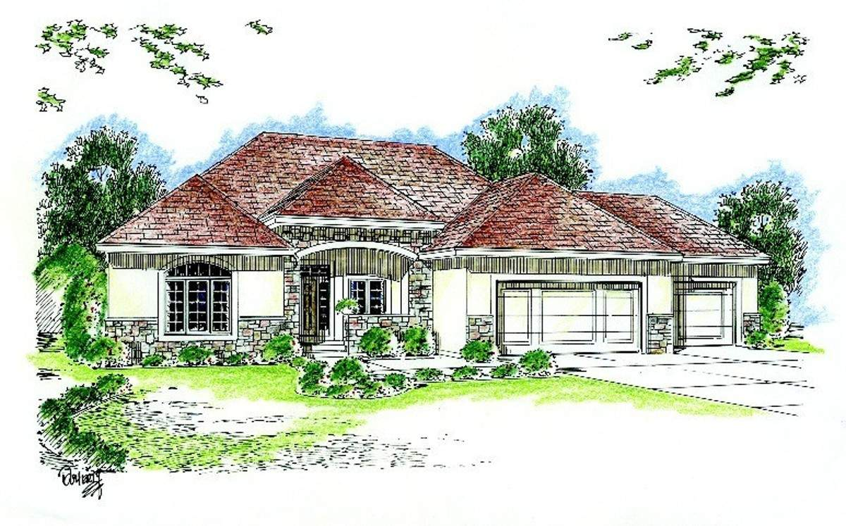 Single Story Traditional Architectural Designs
