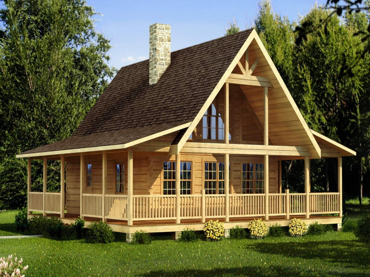 Small Chalet Designs Simple Log Cabin House Plans
