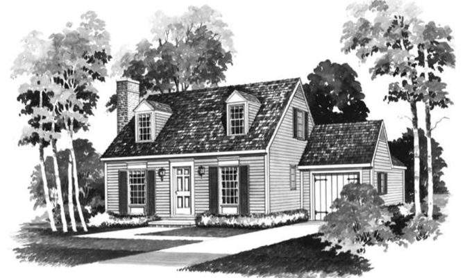 Small Colonial Cape Cod House Plans Home Design
