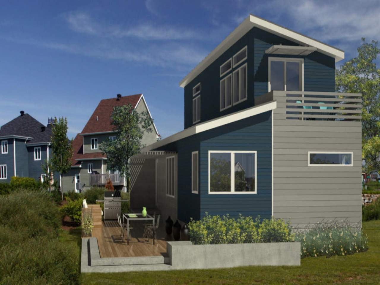 Small Eco Home Sustainable Modern House Plans Design