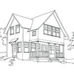 Small House Drawing Knight Associates Architects Lakeside Guest