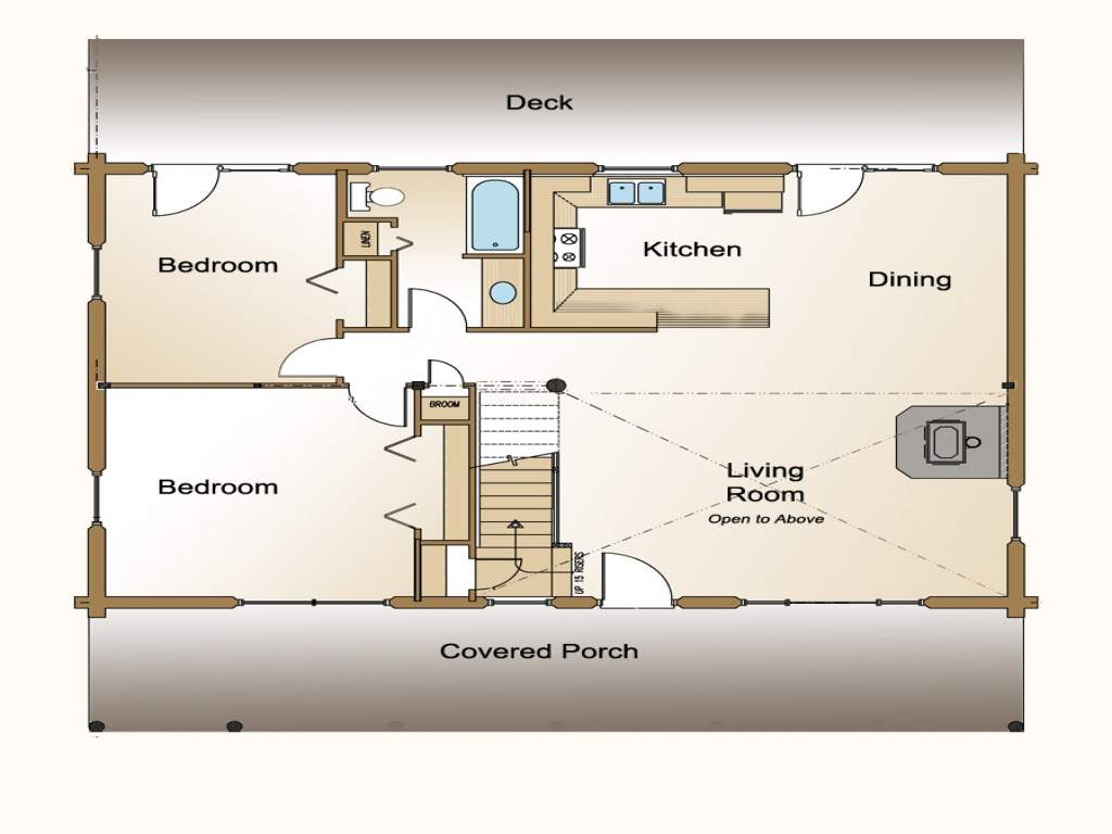 Small Open Concept House Floor Plans Design