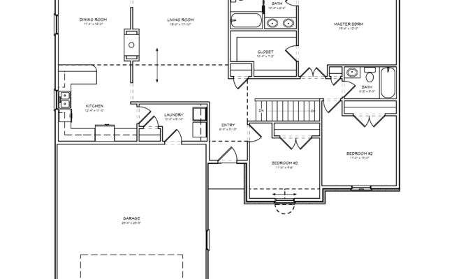 Small Ranch House Plan Bedroom
