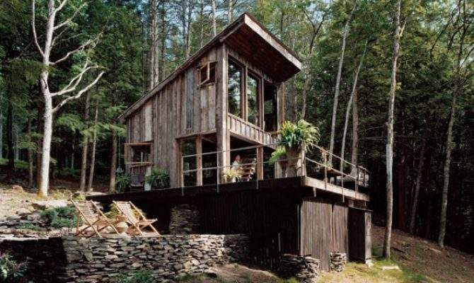Small Rustic Cabin Materials Reclaimed Year Old Barn