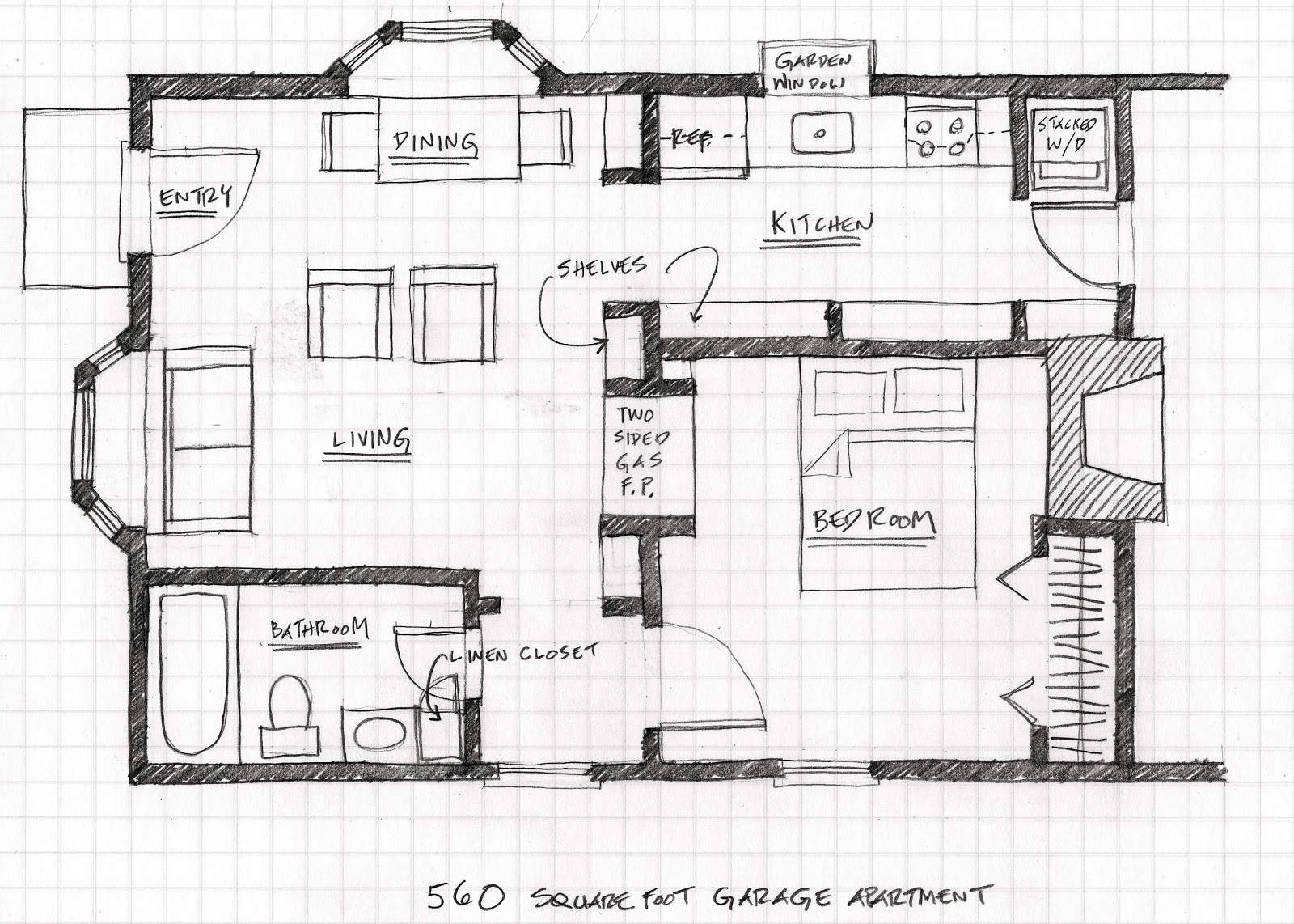 Small Scale Homes Floor Plans Garage Apartment