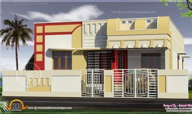 Small South Indian Home Design Kerala