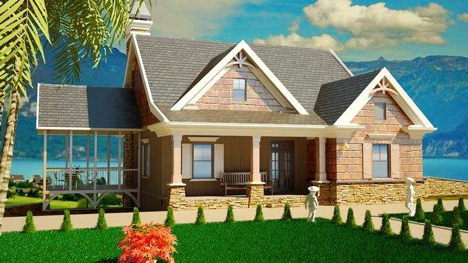 Small Southern Cottage Style House Plans Pinterest