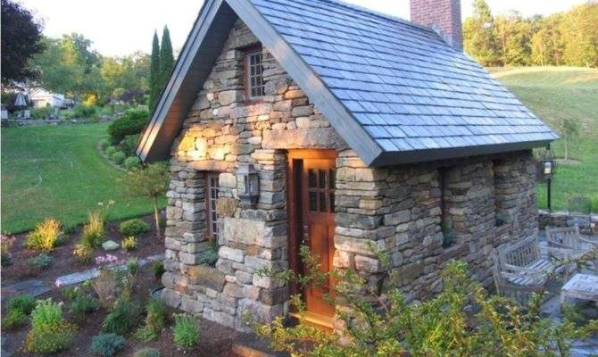 Small Stone Cottage Square Feet House Slanted
