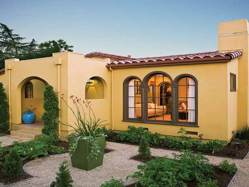 Spanish Style Luxury Homes Yellow