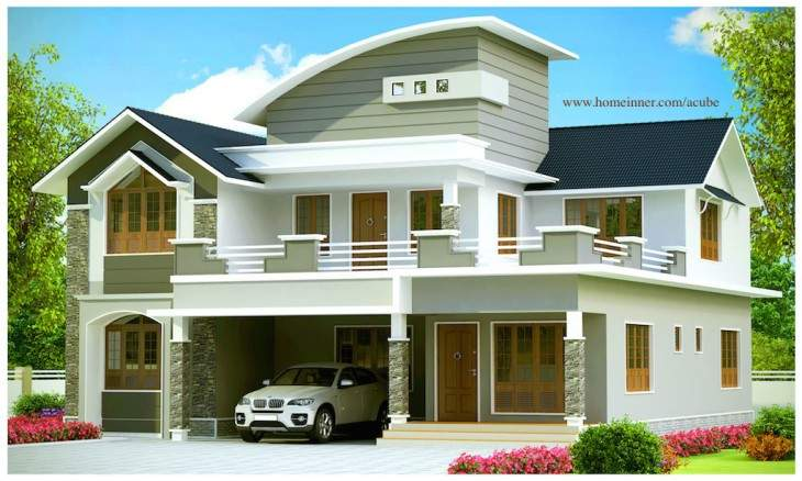 Sqft Beautiful Contemporary Kerala House Design