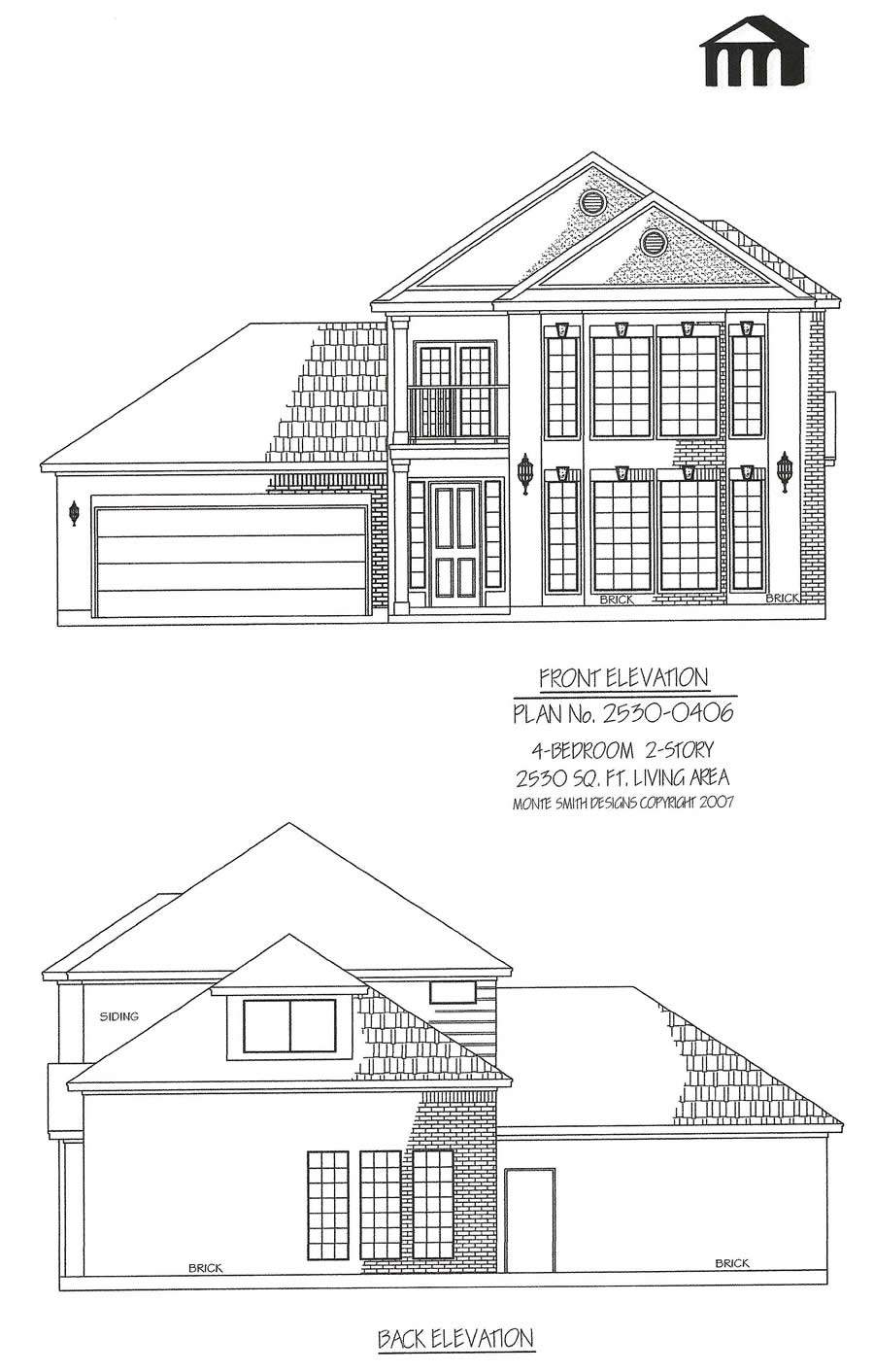Square Feet Bedroom Story House Plan