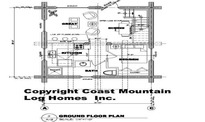 Square Feet Floor Plans Foot Cabin