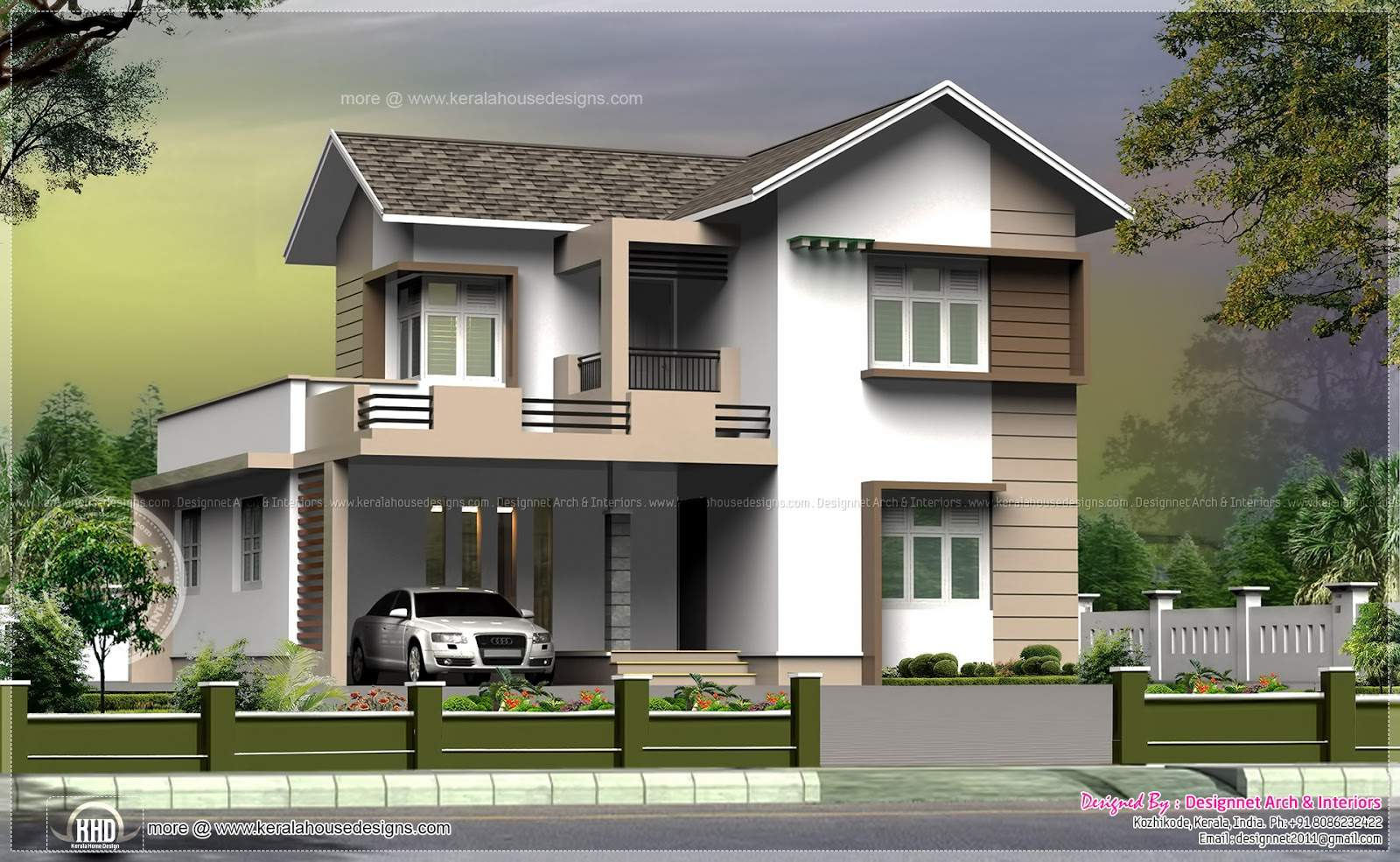 Square Feet Small Villa Cent Plot Kerala Home