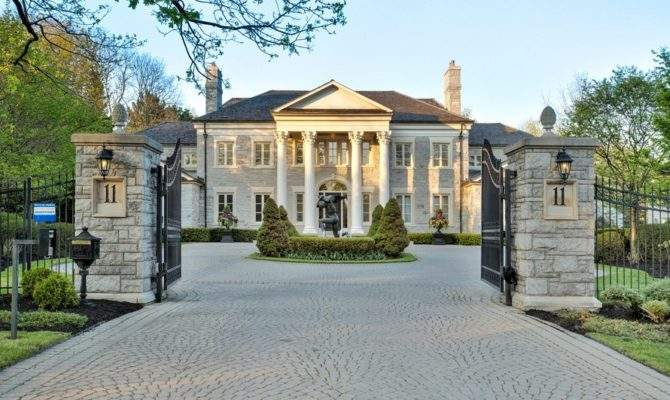 Square Foot Neoclassical Stone Mansion Toronto
