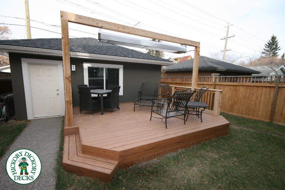 Stand Alone Deck Built Off Garage Calgary Ontario