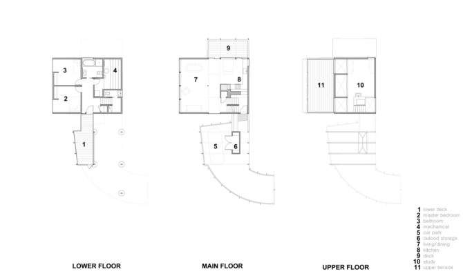 Steep Slope House Floor Plans Treehouse New Construction