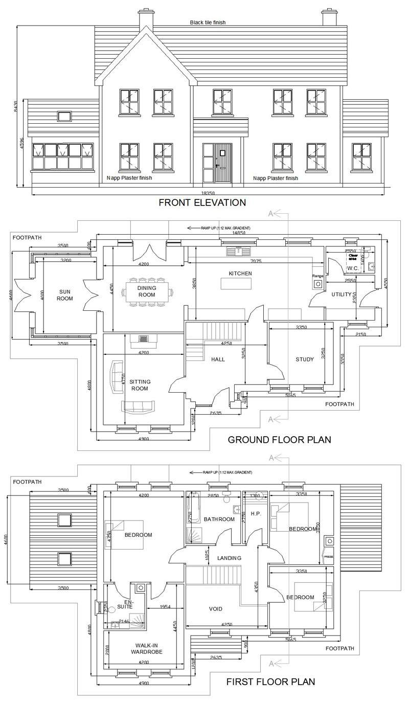 Storey Residential House Plan Design Plans