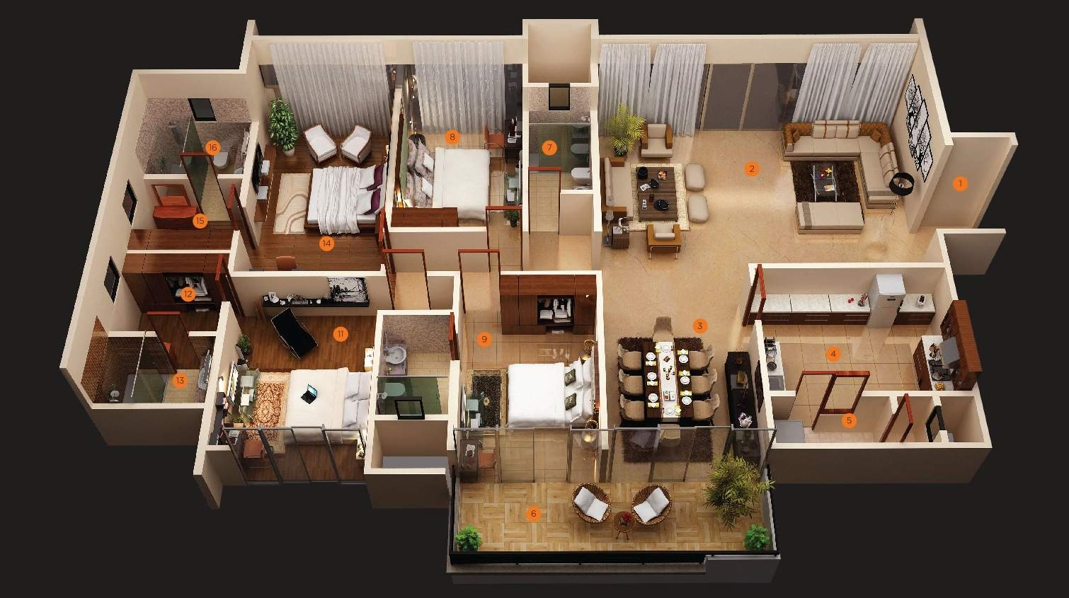 Story Bedroom House Floor Plans Together Plan