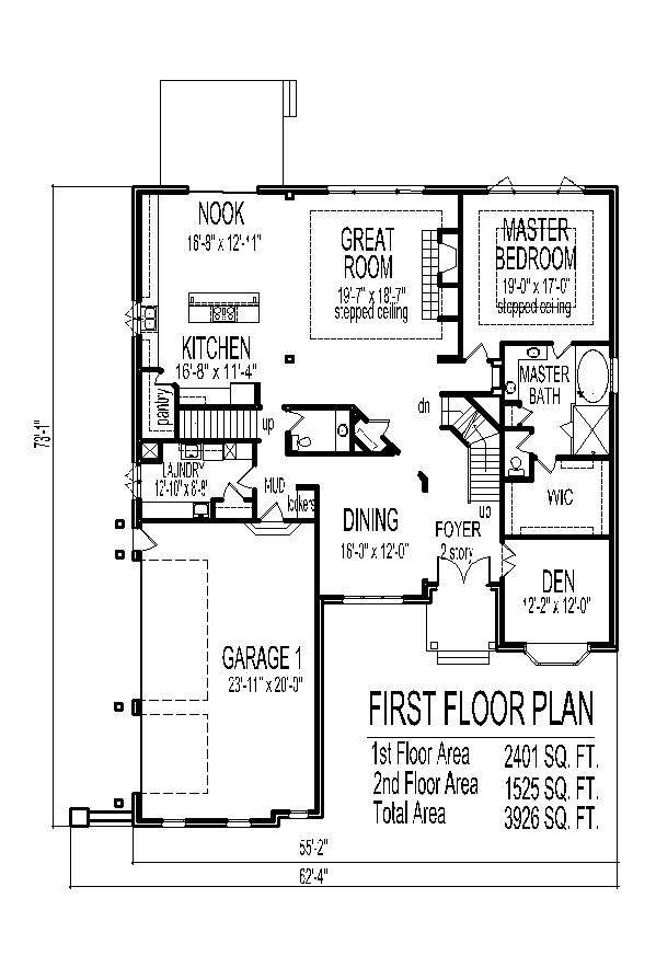 Story House Plans Car Garage Home Deco