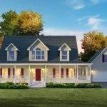Story House Plans Wrap Around Porch Baths Layout Two