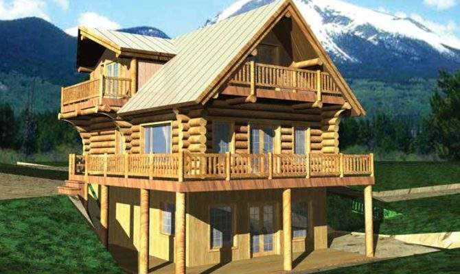 Story Log Home Plans Quotes