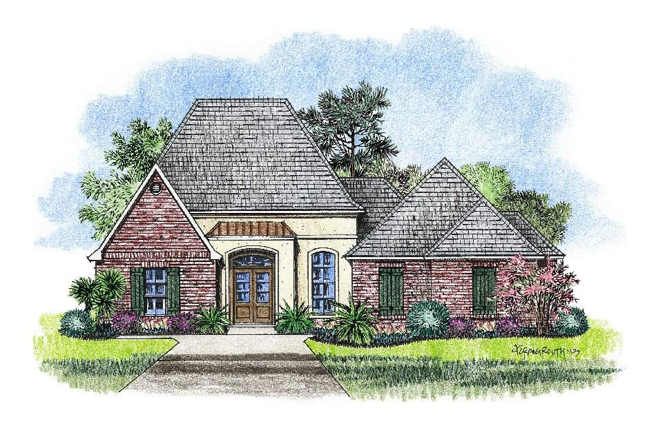 Stuco Brick Country French House Design