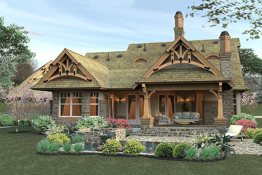 Style House Plan Single Story Country Plans