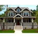 Style House Plans Wrap Around Porch Craftsman Beds Baths