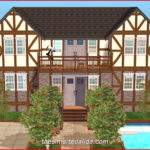 Symmetrical House Rustic
