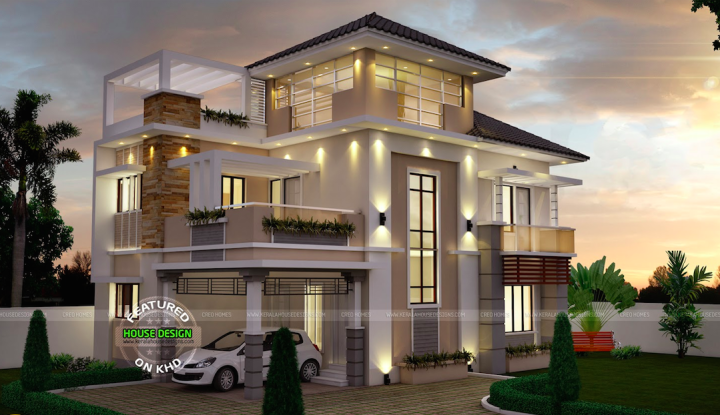 Three Story House Design Home Style