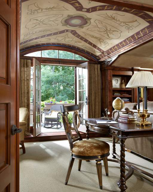 Timeless Tudor Estate Traditional Home Office