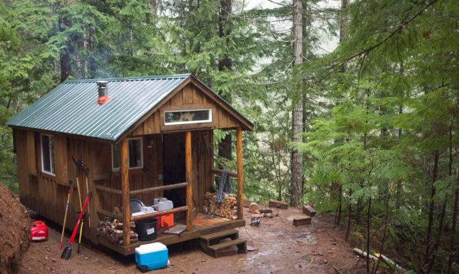 Tiny Cabin Woods House Swoon