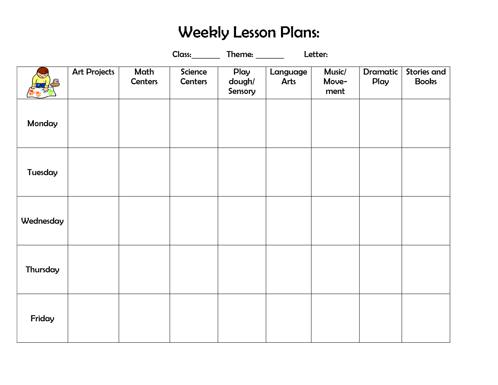 Toddler Lesson Plans October Preschool Plan