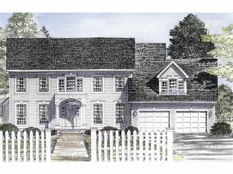 Traditional Center Hall Colonial Architectural
