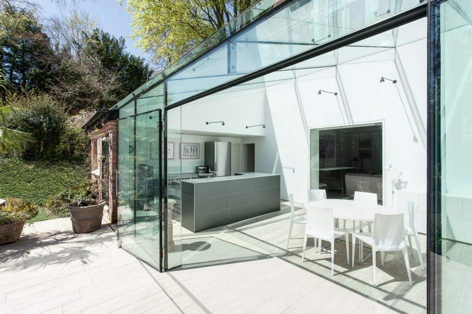 Traditional House Modern Glass Extension Design Studio